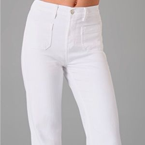 J Brand Bette Wide Leg Jeans White 27